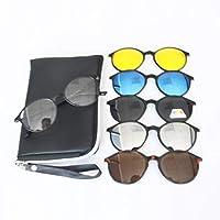 خمسة في واحد كليب المغناطيسي على النظارات الشمسية النظارات المستقطبة للسفر