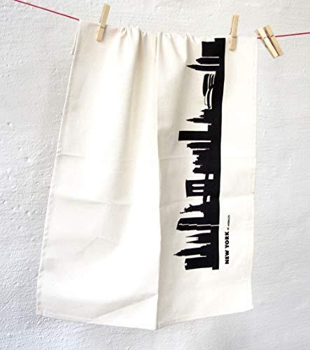Torchon en coton motif nEW yORK cITY - 44spaces de serviette noir