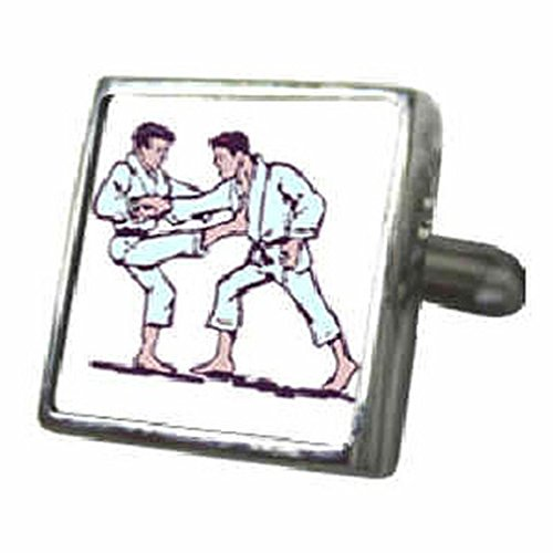 Manschettenknöpfe Manschettenknöpfe Judo ~ Sport ~ Kampfsport Manschettenknöpfe Manschettenknöpfe 3D Wählen Sie Geschenk Tasche