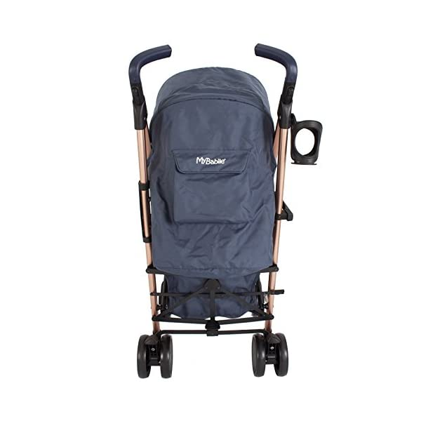 My Babiie Billie Faiers MB51 Rose Navy Stroller  Suitable from birth to maximum 15kg Extendable 3 position canopy Lockable swivel front wheels 5