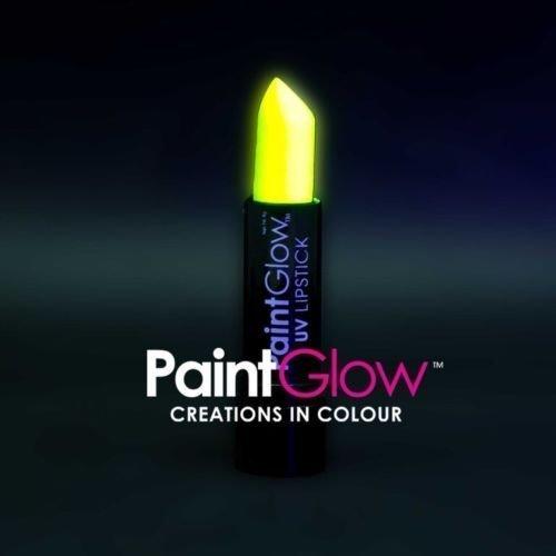 PaintGlow UV Neon Hair Gel, Hair Streaks & Lipstick Rave Party Paint Glow In ...