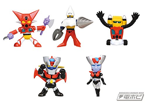 Preisvergleich Produktbild Go Nagai Mini Robot Collection Vol 2 Figure~Choicole~Complete set of 5