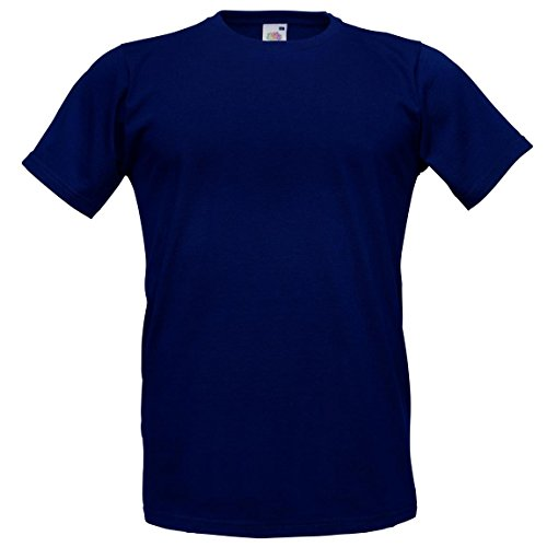 Fruit of the LoomHerren T-Shirt Blau - Deep Navy