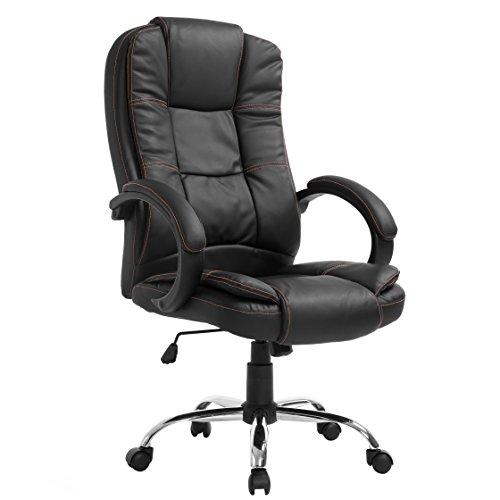 Cherry Tree Furniture Modern Design High Back PU Leather Chrome Base Office Chair In three Colors