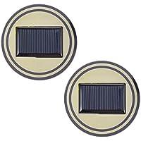 LoveOlvidoE 2 UNIDS Universal Solar LLEVÓ el Sostenedor de Copa del Coche Inferior Pad Mat Bebidas Coaster LED Luz Cubierta Atmósfera Lámpara Vibración Incorporada