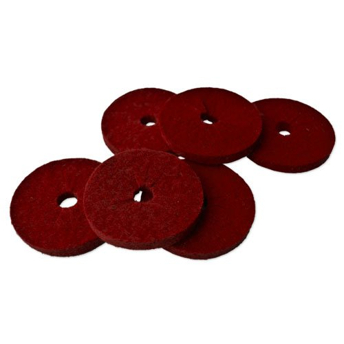 Tropfring Weinkragen Tropfenfänger aus Filz, rot - 6 Stück