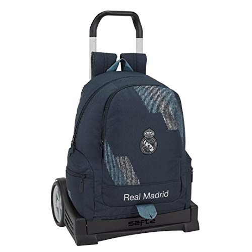 Safta- Mochila con Carro Evolution Real Madrid, Color Azul, 43 cm (611834860)
