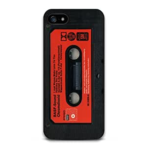 Jagzee Black Red Cassette Tape Retro Classic Cover Case For iPhone 5