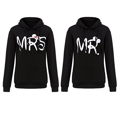*Mr Mrs Hoodie Sweatshirt Pullover Partner Pärchen Look Love Couple XS – 3XL NEU (Mr S + Mrs S)*