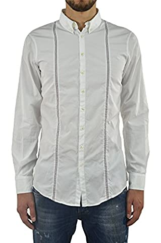 Dsquared2 Men's Shirt With Braces and D2 Leather Plate - size 46/48/50