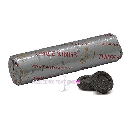 Three Kings selbstzünder 33mm Kohle 1 Rolle 10 Kohletabletten