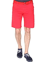 Campus Sutra Solid Men's Chino Shorts-Red