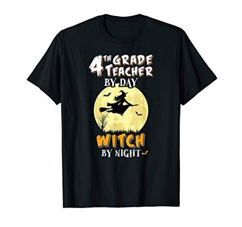 4 Klasse Lehrer Am Tag Hexa Bei Nacht T-Shirt Schule Lustig T-Shirt