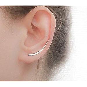Silber Ohrklemme ohrringe, ohrspange, Sterling Silber Ohr Kletterer, Silberne Ohrringe, Ohr Crawler