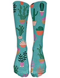 Lmunxuy Cool Cactus Knee Highs Socks Cotton Colorful Socks