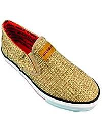 NICHOLAS TRAINER-13 Men's Casual Shoes Beige Size 8