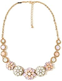 Glitz Stylish Floral Pendants Statement Necklace For Girls Fashion Party Wear Low Price Offers