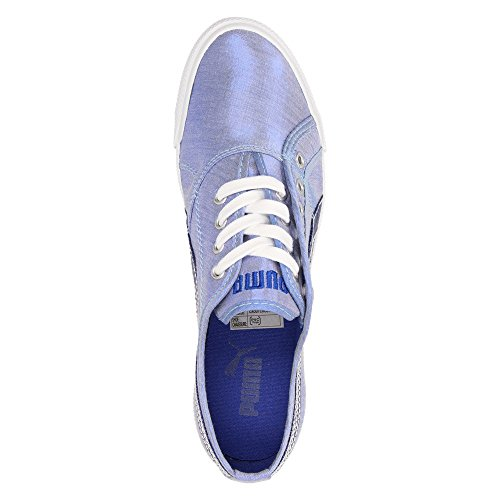 Puma Crete Sheen Wns Damen Schuhe Sneaker Halbschuhe Schnürer Freizeit 'Surf The Web Blue' Surf The Web Blue