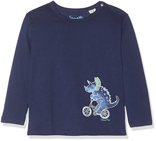 Sanetta Baby-Jungen Shirt Hose, Blau (Moon Blue 5866), 86 (Herstellergröße: 086) -