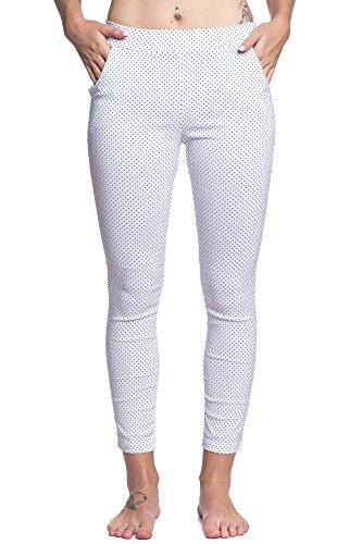 Abbino 6001 Pantaloni Donne Ragazze – Made in Italy – Multiplo Colori – Moderno Saldi Mezza Stagione Primavera Estate Autunno Casual Fascino Libero Sexy Moda Eleganti Flessibile Giovane Delicato