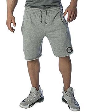 Kurze Sporthose Herren - Jogginghose für Sport, Fitness, Bodybuilding, Crossfit und Freizeit   Ideale Hosen für...