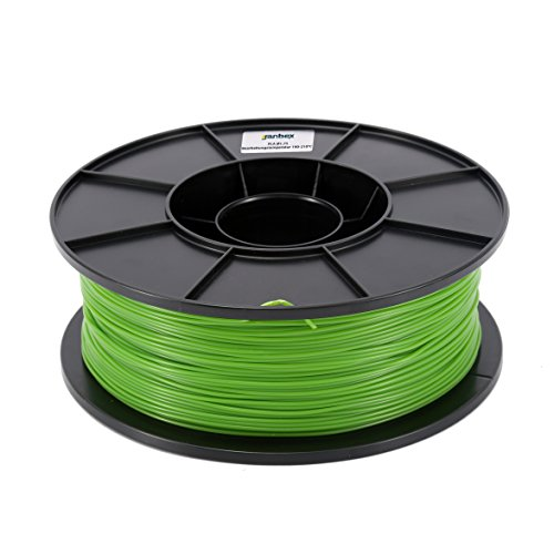 JANBEX PLA Filament 1,75 mm 1kg Rolle für 3D Drucker (Grün)