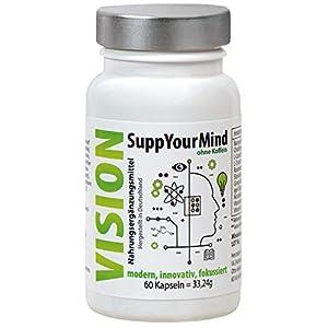 Pflanzlicher Gedächtnis Booster zur Leistungssteigerung, Aufmerksamkeit und Konzentrationsfähigkeit | 100% Vegan mit natürlicher Power aus Ginseng und Cholin | Ohne Koffein
