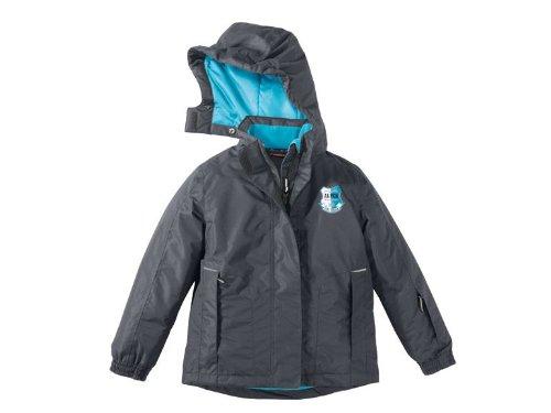 Kinder Mädchen Skijacke Farbe: Anthrazit/Blau Gr. 122/128 Wind- und wasserdichtes Obermaterial mit versiegelten Nähten