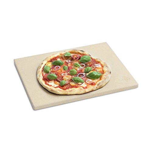 BURNHARD Piedra para Pizza para Horno y Parrilla, Cordierit, Rectangular, Adecuado para Pan, Tarta flambeada...
