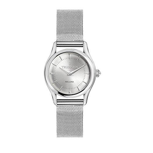 TRUSSARDI Reloj Analógico para Mujer de Cuarzo con Correa en Acero Inoxidable R2453127505