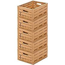 5 STK fruta caja – Almacenamiento caja madera diseño manzana caja 400 ...