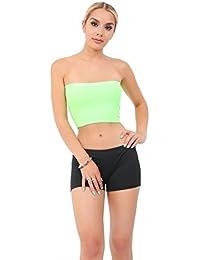 b3f6f8a5c9 Crazy Chick New Ladies Women Plain Green Boob Tube Strapless Bandeau  Stretch Vest Bra Crop Top