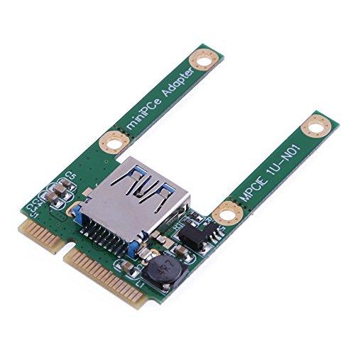 amazingdeal Mini PCI-E zu USB 2.0Adapter Erweiterungskarte für Laptop