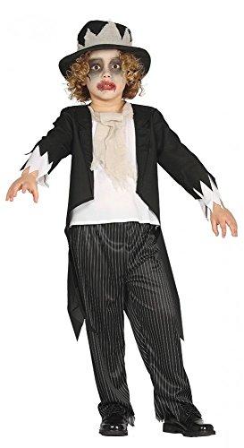 tüm Geister Bräutigam für Jungen Geist Ghost Groom Kleinkind, Kindergröße:116 - 5 bis 6 Jahre (Bräutigam Kostüm Für Kleinkind)