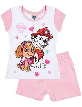 Paw Patrol Mädchen Shorty-Pyjama - weiß