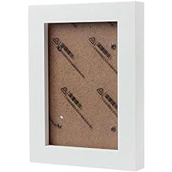 WINWINTOM Inicio decoración de la pared de madera que cuelga Montado marco de la foto (Blanco)
