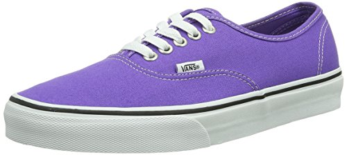 Vans Authentic VEE3BLK Unisex - Erwachsene Klassische Sneakers Schwarz (Noir (Passion Flower/True White))