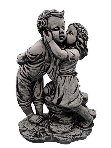 gartendekoparadies.de Statue en Pierre Massif résistante au Gel pour garçon et Fille