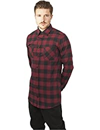Urban Classics Long Checked Flanell Shirt, Chemise Casual Homme