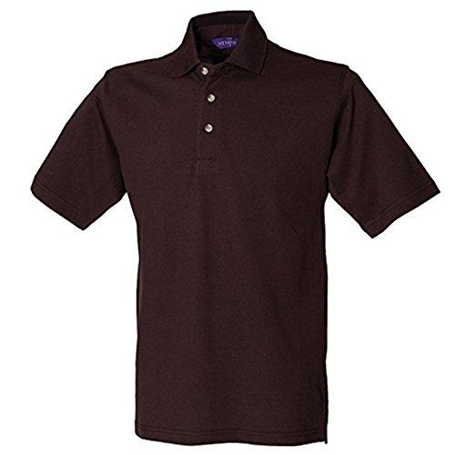 Henbury Herren Modern Poloshirt Schokoladenbraun