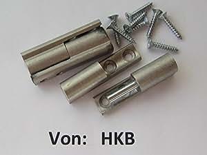 hkb® à vis bande pour portes de Hettich, Ø 10x 40mm, acier nickelé mat, Lot de 2, 9100480