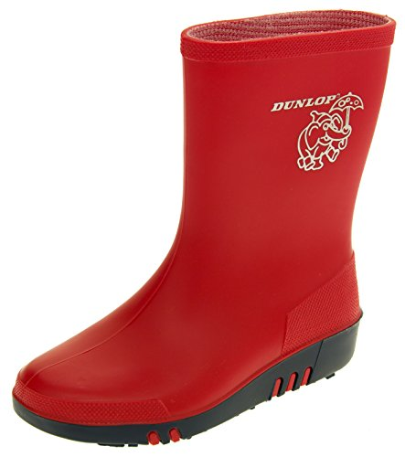 Footwear Studio Dunlop Boys Girls Kids Rainy Day Elephant Waterproof Wellington Boots