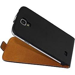 ebestStar - Compatible Coque Samsung S4 Galaxy i9500 i9505 Etui Housse PU Cuir Rabat Ultra Fin (Ultra Slim Case), Noir [Appareil: 136.6 x 69.8 x 7.9mm, 5.0'']