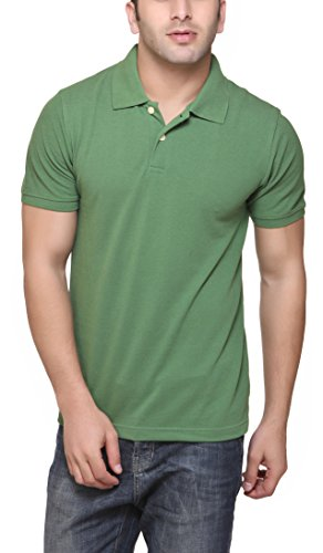 American Crew Polo Collar Forest Green T-Shirt - L (AC038-L)