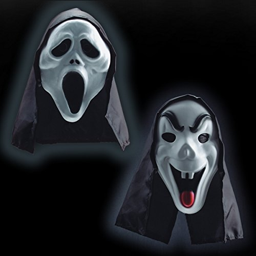 Carnival Toys Masque de fantôme de mousse avec capuche
