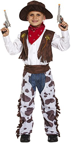 per bambini Cowboy Wild West sceriffo Costume di Halloween Outfit