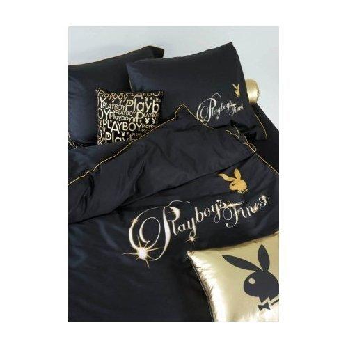 playboy-parure-de-lit-finest-8715944080811-155-x-220-cm-et-80-x-80-cm-coton-percale-or