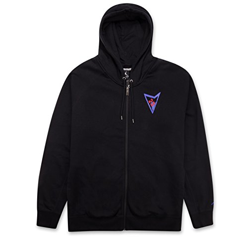 Jordan Herren Air Retro AJ VII Full Zip Hoodie Black/Bright Concord 812982-010 Retro Full Zip Hoodie