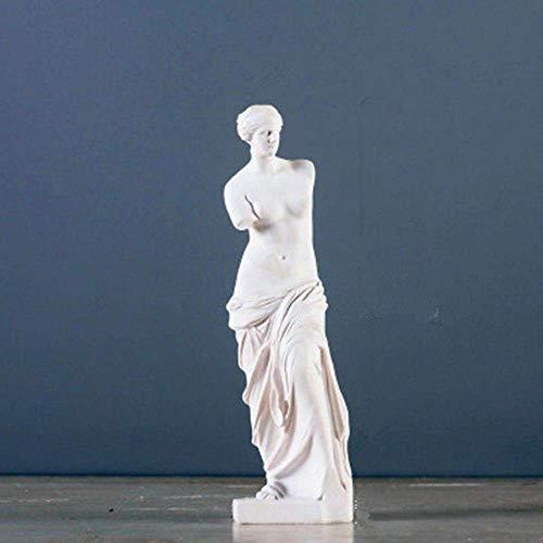 Mnjin G706 Deko-Statue, römische Mythologie, Göttin, Venus, volle Länge, Hochformat, Heimdekoration, Weiß, weiß