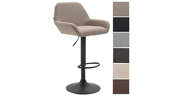 Clp sgabello da bar braga in tessuto sedia cucina con schienale
